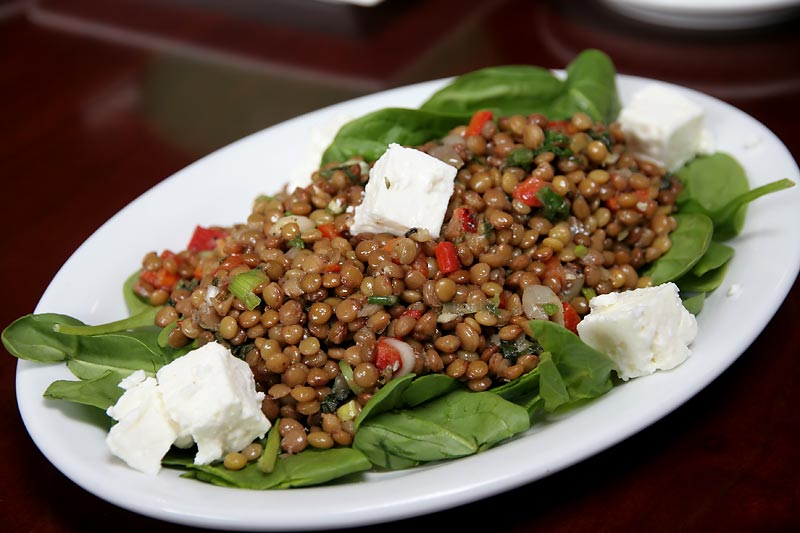 Lentil Salad | Baby lentils with roasted red pepper, feta, herbs ...