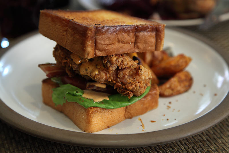 "Fried"" Catfish BLTs Recipe — Dishmaps"